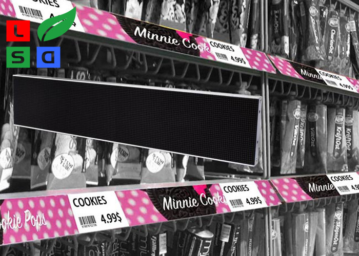 High Difinition COB LED Shop Signs Shelf Screen Signage Board For Supermarket Video Display