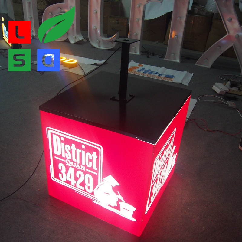 Face Lite Customized Cube Light Box 3D Custom Size LED Waterproof Light Box